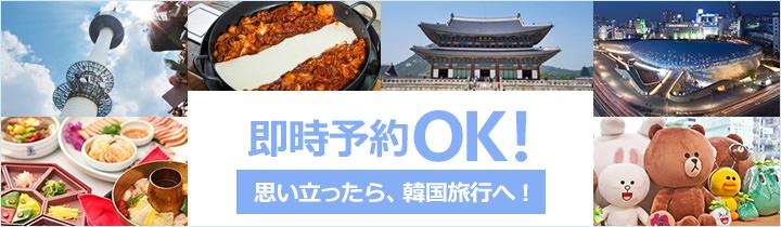 即時予約OK!現地韓国ですぐに利用できる人気ツアー商品