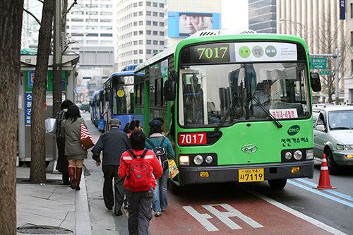 グリーンバス(緑)幹線バスや地下鉄との連結、乗換えをより便利にし、地域と地域を結ぶ支線バス。