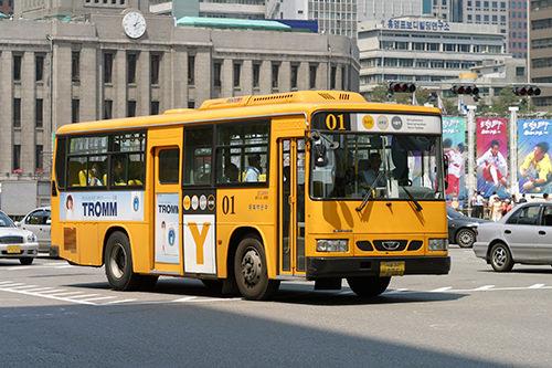 イエローバス(黄色)、ソウル都心・副都心を循環するバス。