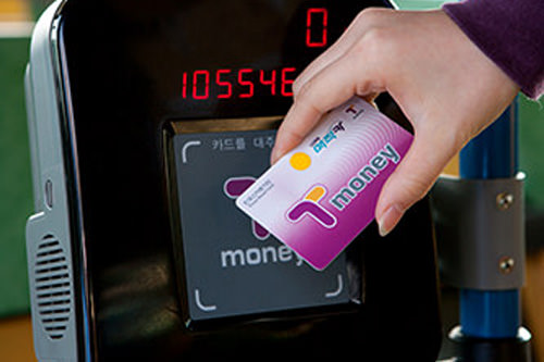 T-moneyカードは降りる時もピッ