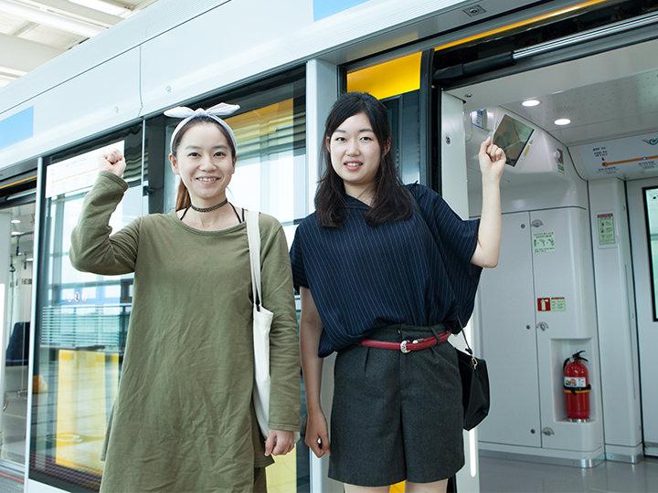 目的地・終点の龍遊駅へ到着