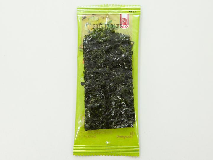 ドンウォン社「ヤンバン オリーブオイルで焼いた海苔」の中身
