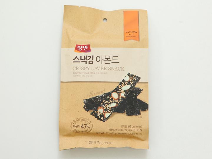 韓国名「양반 스넥김 아몬드(ヤンバン スネックキム アモンドゥ)」