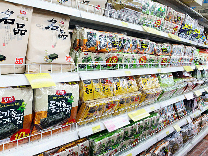 お土産の定番!韓国海苔食べ比べ