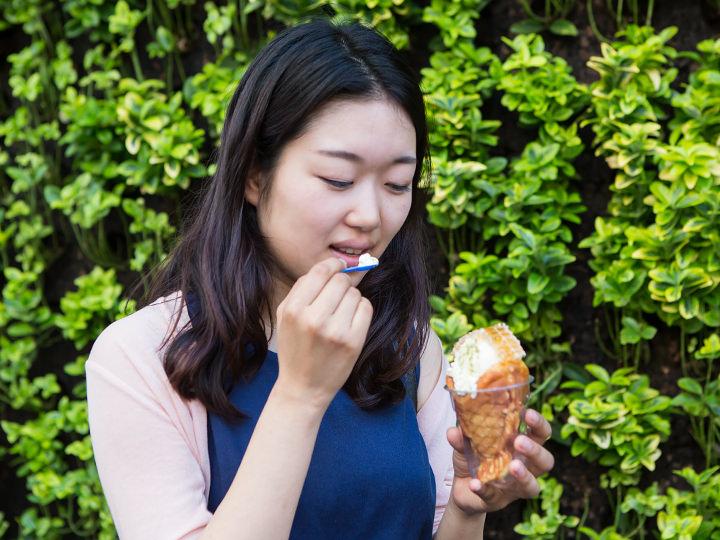 30度を超える暑さでも、アイスクリームが溶けにくいのが嬉しい♪