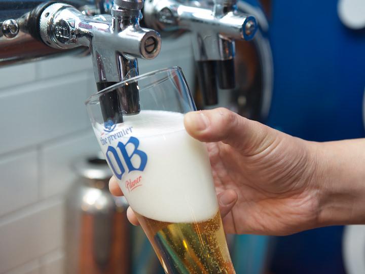 きめ細かいクリーミーな泡が決め手の生ビール