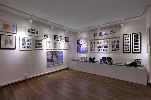 展示数も多い人気の「冬のソナタ」スペース