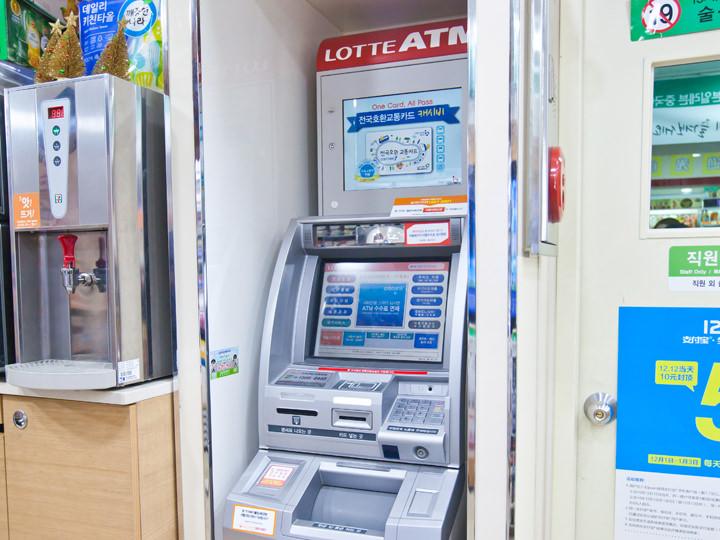 コンビニ内ATM