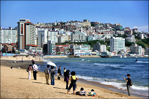 韓国のサーフィンスポット・釜山の海雲台(ヘウンデ)