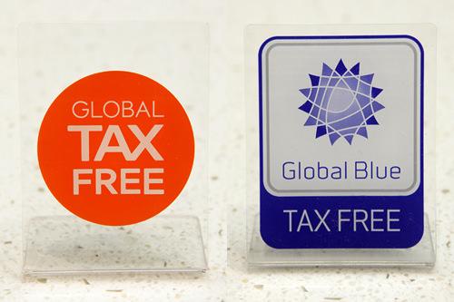 「TAX FREE」表示