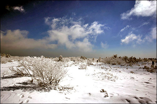 急に曇ってきた漢拏山