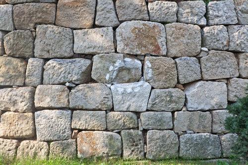 城壁にもくっきり