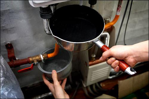 ボイラーの水補充
