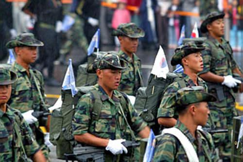 「国軍の日」軍事パレードの様子