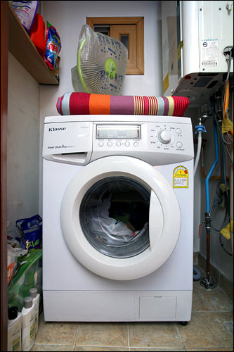 備え付のドラム洗濯機