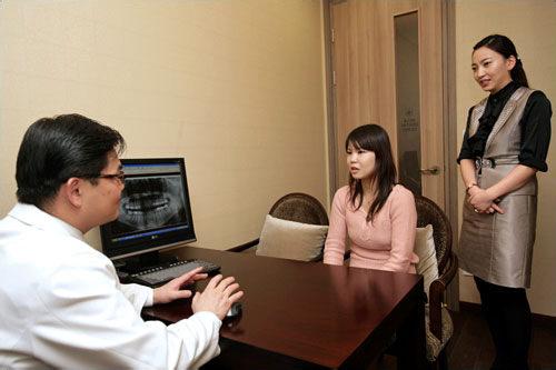 6.治療内容決定初診の結果と撮影したレントゲン写真をもとに、最も適切な治療法を決定。治療期間や費用、使用する機器などについての説明もあるので、気になる点や疑問点があれば遠慮なく聞いてみましょう。