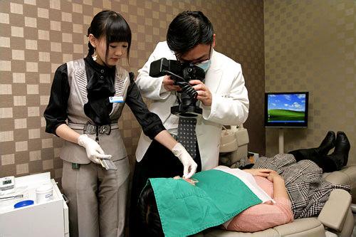 1.口腔写真撮影口腔内の写真を撮影します。