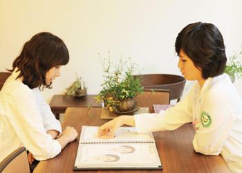 2.治療相談診断結果を基に、先生とカウンセリング。個人個人に合った最適の治療法を決定します。