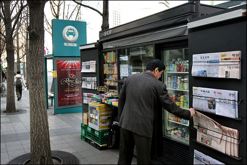 「デザインソウル事業」では路上売店が一新