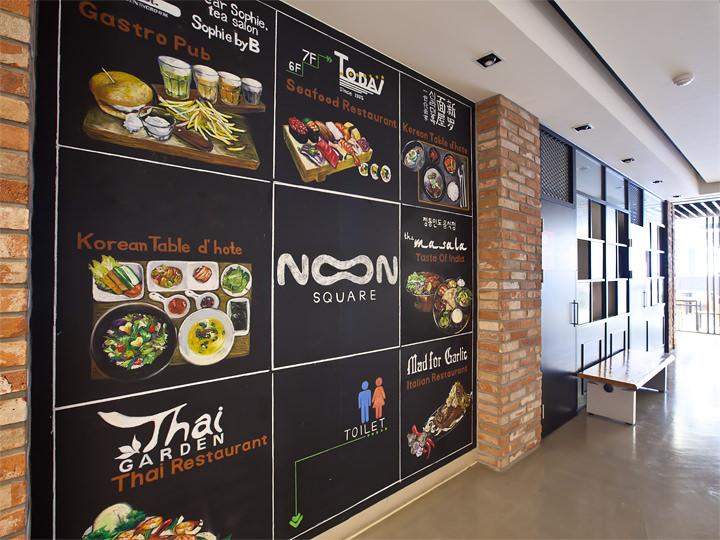 6階のレストラン街は、韓国料理、タイ料理、ガーリック料理、インドカレーなど多様なラインナップ