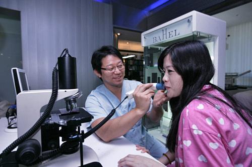 皮膚管理も院長先生が診断する