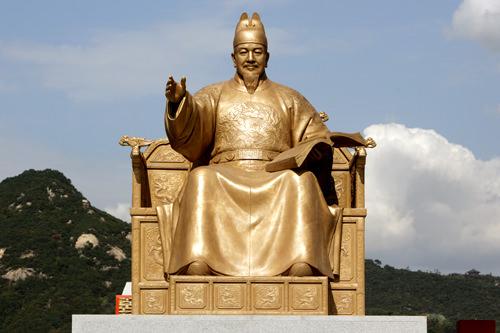 光化門(クァンファムン)広場の世宗大王像