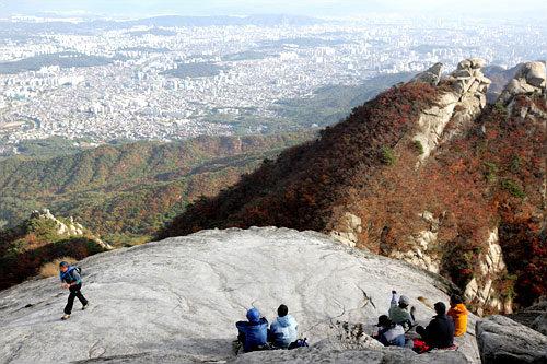 ソウル市内の眺望は最高