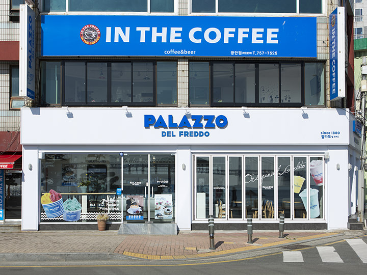 PALAZZO(地図青4)フレーバー豊富なイタリアンジェラートを楽しめるお店。ほかにもコーヒー・スムージーなどのドリンクやピンスも人気。
