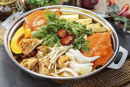 ワタリガニの寄せ鍋(コッケタン) 大90,000ウォン 小60,000ウォン
