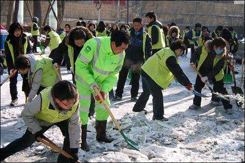 除雪作業ボランティア(2010年1月)