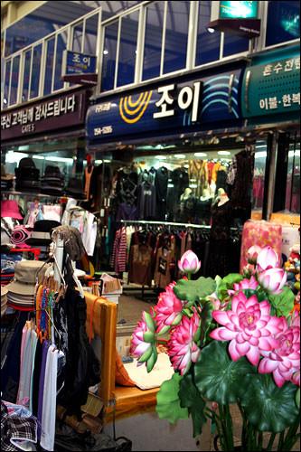 ユジンの母が働いていた衣料品店