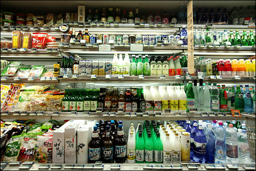 アルコール類のコーナー