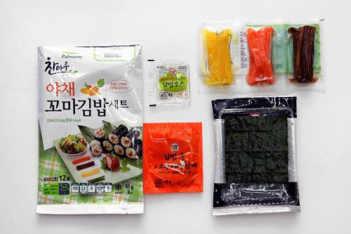 プルムウォン チャンマル・野菜コマキムパッセット(12本、3人分) 2,980ウォン