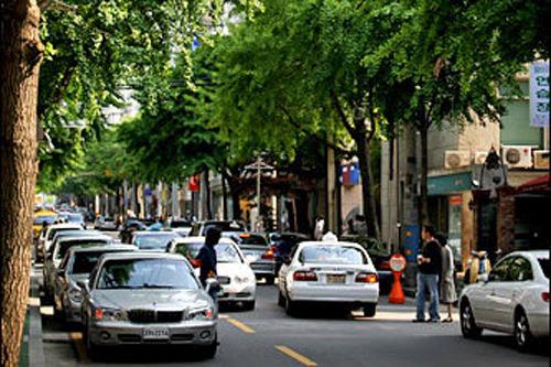 街路樹が並ぶおしゃれストリート