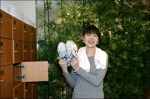 運動靴はサイズ別に揃っています