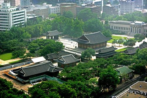 徳寿宮(地図1) 近代韓国の歴史が刻まれた5大王宮のひとつ
