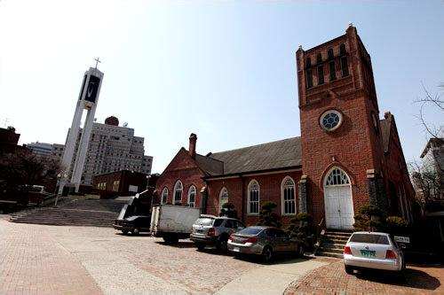 貞洞第一教会(史跡256号)(地図4) 朝鮮時代末期に建てられた韓国初のメソジスト教会