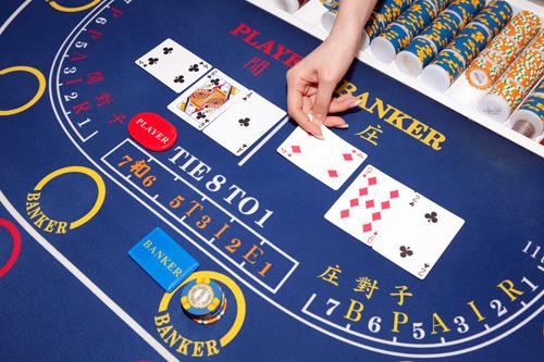 バカラカードの合計が9に近い方を勝ちとし、プレーヤーとバンカーのうちどちらが勝つかを当てるゲーム