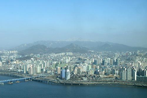 ソウル市内を一望