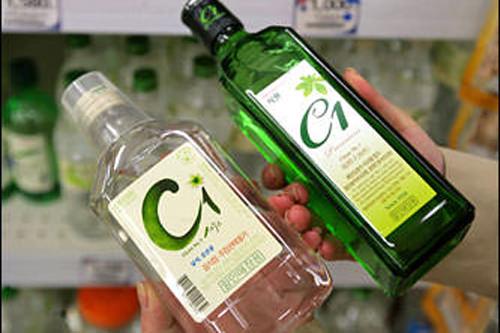 釜山の焼酎「C1(シーワン)」にもついつい手が・・・