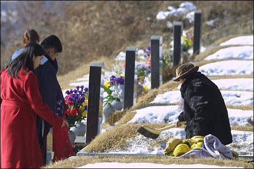 まずはお墓の周りをきれいに掃除