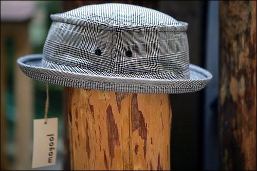 グレンチェックブリム帽109,000ウォン