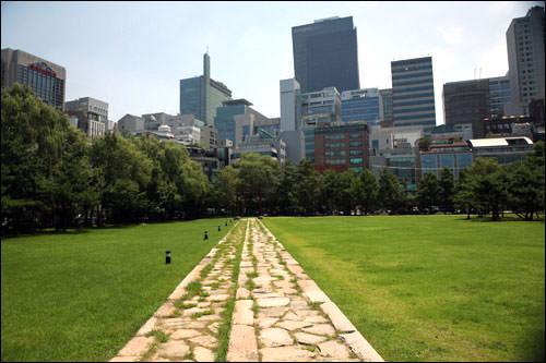 靖陵から見渡す高層ビル群