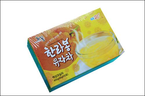 「ハルラボン柚子茶」3,900ウォン済州島みかん「ハルラボン」配合。お湯に溶かすだけなのでバラマキやお試しにも!