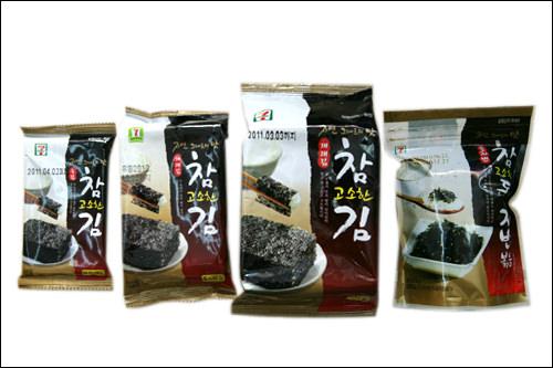 「チャム コソハン キム」200ウォン~オリジナル激安韓国海苔!お弁当用に買える手軽さで人気。