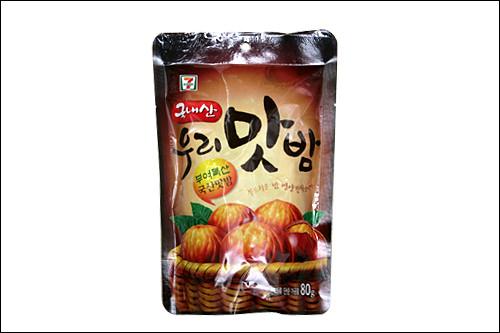 「ウリ マッパム」2,500ウォン有名な扶余(ブヨ)栗の風味をまるごととじ込めた、甘さ控えめのむき栗。おつまみにも◎!