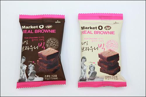 「マーケットO リアルブラウニー」1個1,000ウォンいまや韓国みやげの定番となった「マーケットO」のお菓子。箱入りだけでなくバラ売りも。