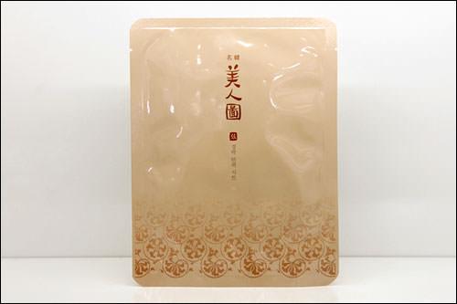「名韓美人図」経絡弾力シート4,800ウォン(1枚)