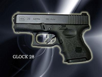 Glock28口径:380口径製造国:オーストリア他のピストルに比べてグリップが短く、重さも軽い小型ピストル。
