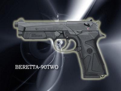BERETTA90Two口径:9mm製造国:イタリアBERETTAの最新モデル。M92の2世で、重さも軽い。